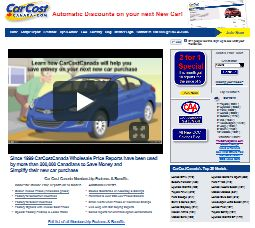 CarCostCanada Web Site