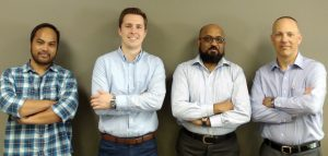 The newest members of the Armada Data Corporation team, John Buenaventura, Jeff Fryters, Murtaza Shabbir and Joe Glube.